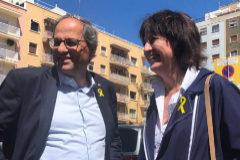 El presidente de la Generalitat, Quim <HIT>Torra</HIT>, y la presidenta de la ANC, <HIT>Elisenda</HIT> Paluzie