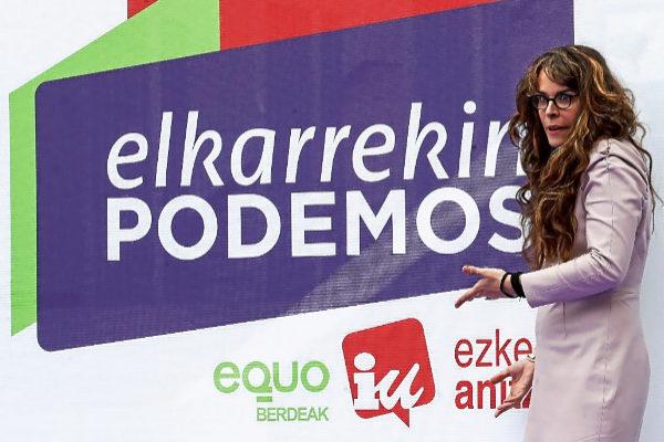 Aitzole Araneta, candidata a la alcaldía de San Sebastián por Elkarrekin Podemos.