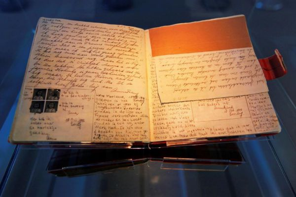 Manuscrito original del 'Diario de Ana Frank'.