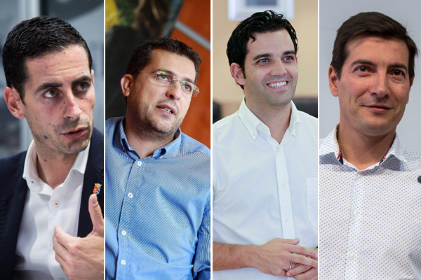 Juan Antonio Sagredo (Paterna), Juan Ramón Adsuara (Alfafar), Rafa García (Burjassot) y Carlos Fernández Bielsa (Mislata).