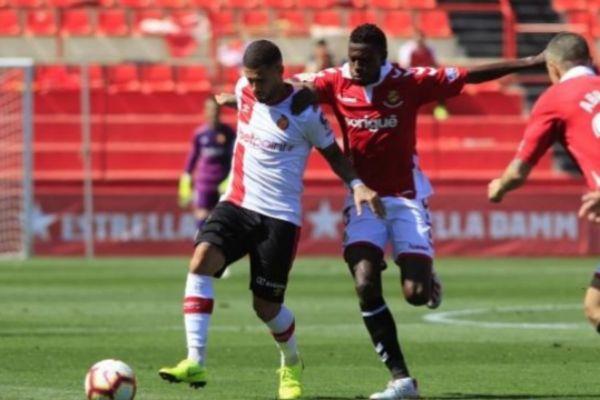 Un momento del partido del Mallorca ante el Tarragona.