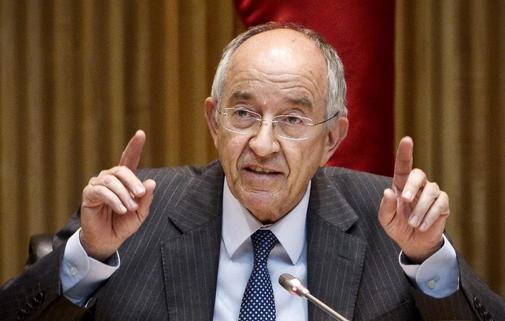 El ex-gobernador del Banco de Espana, Miguel Angel Fernández Ordónez. en una comparecencia ante el Congreso de los diputados.