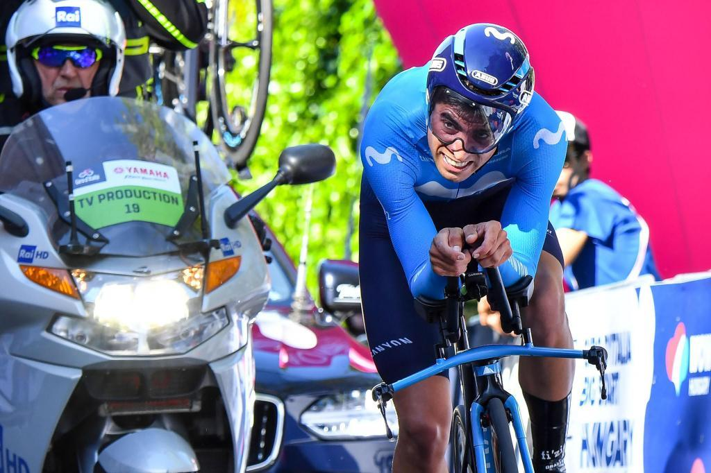 Mikel Landa, durante la crono inicial del Giro.