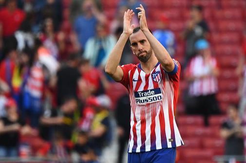 Diego Godín, en un partido con el Atlético