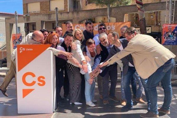 Imagen de los candidatos de Cs en Lleida