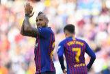 Arturo Vidal celebra su gol.