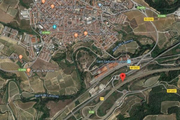 Al menos 25 personas heridas leves en un accidente múltiple en la AP-7 en la provincia de Barcelona