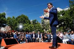 Albert Rivera, en la presentación de los candidatos de Ciudadanos a las europeas.