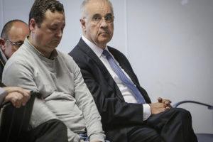El ex conseller Rafael Blasco, junto a Augusto César Tauroni durante una de las sesiones del juicio.