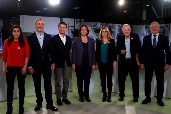 Los alcaldables de Barcelona en el debate de BTV