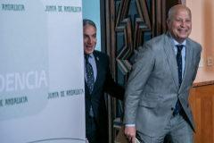 El consejero de Educación y Deporte, Javier Imbroda, tras un consejo de gobierno.
