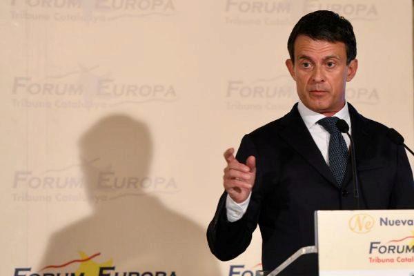 Valls durante su intervención en este acto