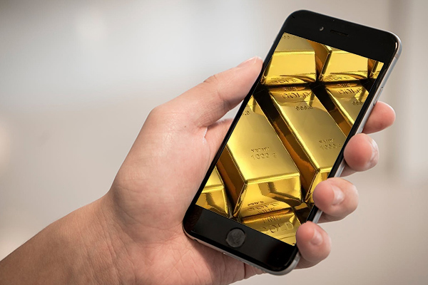 Pantallas de oro para los móviles del futuro