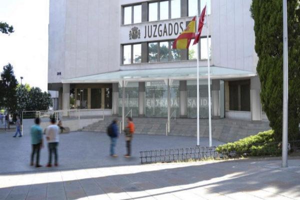 Los juzgados de Plaza de Castilla, donde se ha producido la...