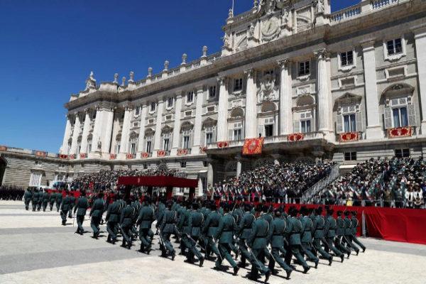 Acto conmemorativo del 175 aniversario de la Guardia Civil, en el Palacio Real.