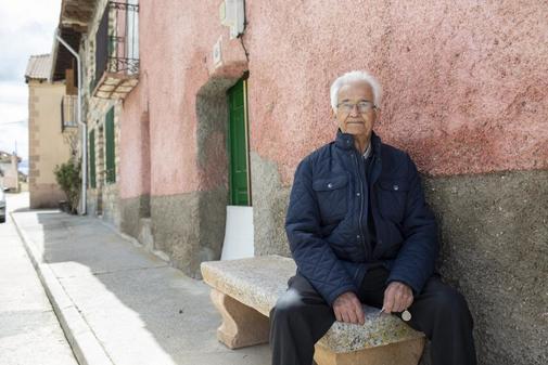 Ricardo Díez, este viernes, en Castillejo de Mesleón (Segovia)