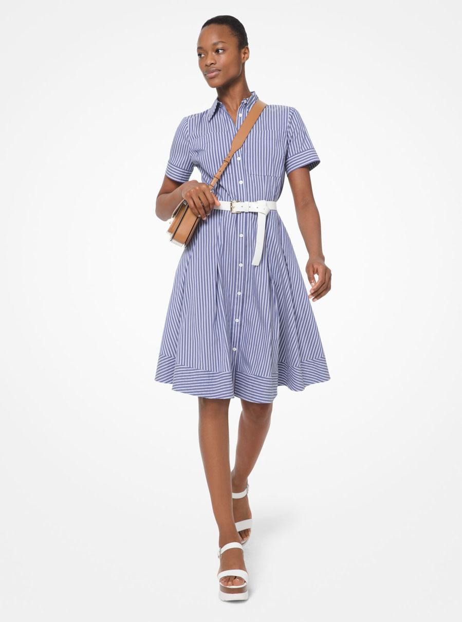 Vestido Polo Ralph Lauren camisero de popelina a rayas en