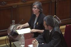 Mireia Boya, ex diputada de la CUP, durante su declaración.