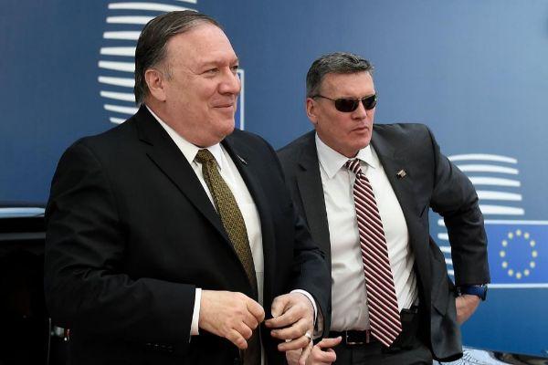 El secretorio de Estado de EEUU, Mike Pompeo, en Bruselas.