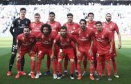 Equipo titular del Real Madrid en el último partido de Liga.
