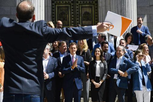 Albert Rivera preside la primera reunión del Grupo Parlamentario...