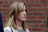 Actror <HIT>Felicity</HIT> Huffman leaves the federal courthouse in...