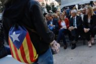Barcelona, 13 de Mayo de 2019 Acto de campaña electoral municipal de JuntsperCat con Elsa <HIT>Artadi</HIT>, Neus Munte, Artur Más y Xavier Trías.