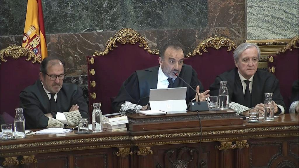 El presidente del Tribunal, Manuel Marchena, durante el juicio.