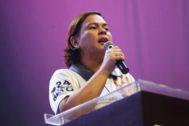 Sara Duterte, durante la campaña electoral.