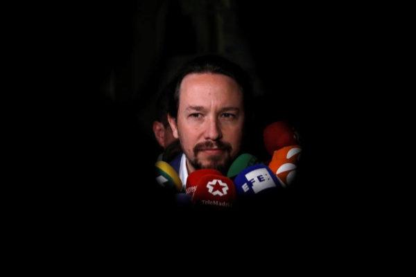 Pablo Iglesias, el lunes, en un desayuno informativo en Madrid.