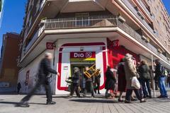 Un supermercado de la cadena Dia en el centro de Madrid,