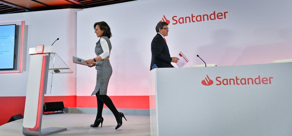 La presidenta del Banco Santander, Ana Botín, junto al consejero delegado, José Antonio Álvarez.