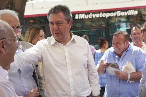 El socialista Juan Espadas, en un acto en Sevilla