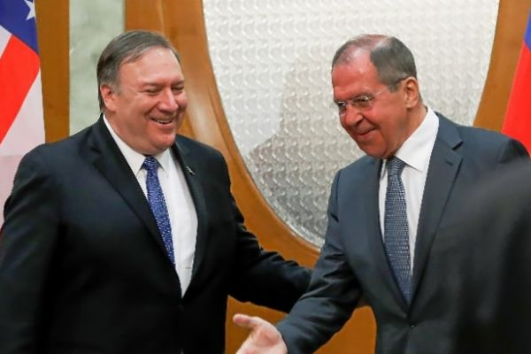 El ministro de Exteriores ruso, Sergei Lavrov, recibe al secretario de Estado de EEUU, Mike Pompeo.