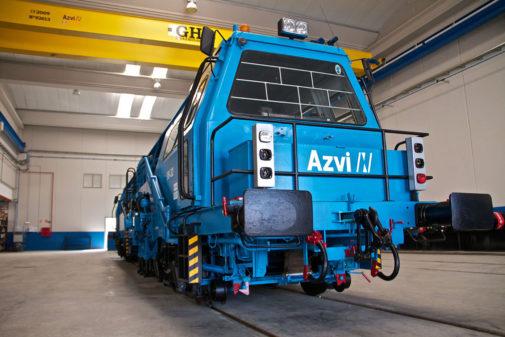 Un centro de mantenimiento de Azvi.