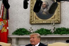 El presidente de Estados Unidos, Donald Trump, se dirige a los medios, en la Casa Blanca