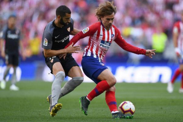Antoine Griezmann, durante el partido ante el Sevilla.