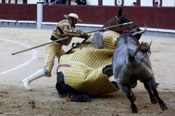El quinto toro de La Quinta dio espectáculo para el público en el caballo