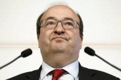 Miquel Iceta, en rueda de prensa el 9 de mayo en el Parlament
