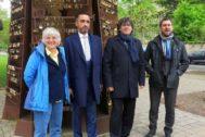 La ex consellera Ponsatí, acompañada de su abogado Aamer Anwar, Carles Puigdemont y Toni Comín, en Schengen.