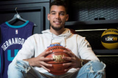 Willy Hernangómez, en la sede de NBA España, en Madrid.