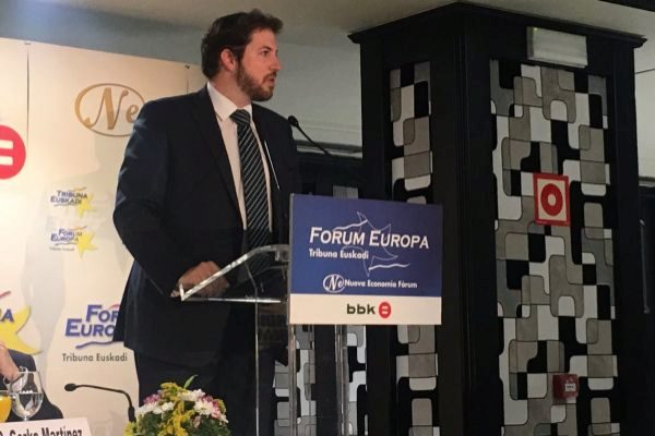 Luis Gordillo, portavoz de Ciudadanos, en el Fórum Europa.