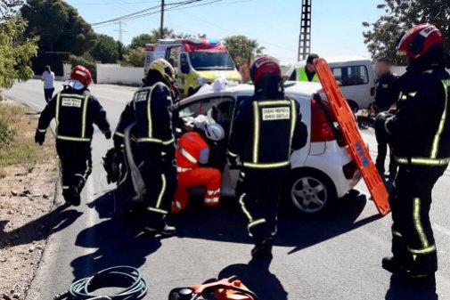 Dos heridos en una colisión en Alcossebre.