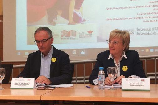 Ana Barceló, consellera de Sanidad, en una comparecencia.