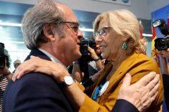 La alcaldesa de Madrid, Manuela Carmena, y el candidato a la presidencia de la Comunid de Madrid Ángel Gabilondo.