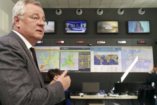 El director de Echo, Johannes Luchner, en la 'situation room'.
