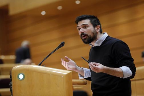 Ramón Espinar, en el Senado cuando representaba a Podemos.