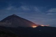 Imagen de las llamas en el Parque Nacional de El Teide.