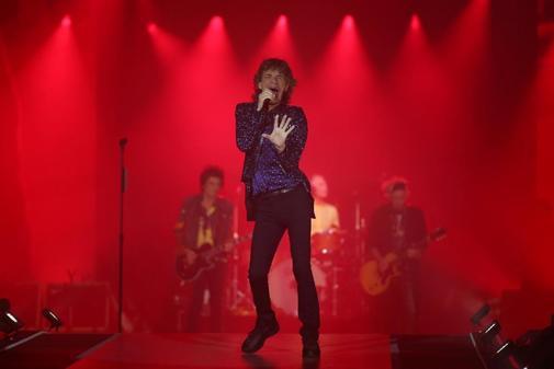 El cantante de los Rolling Stones durante su concierto en Barcelona,...