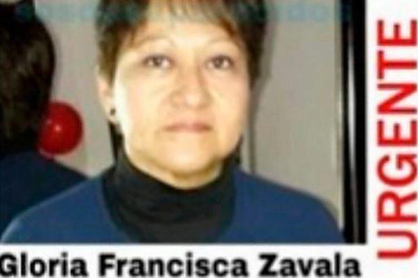 La mujer desaparecida Gloria Francisca Zavala, hallada muerta en El...